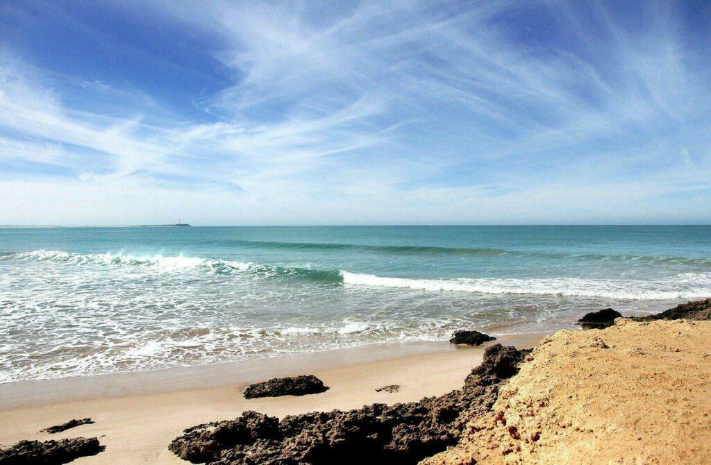 Plage de l'Atlantique au Maroc