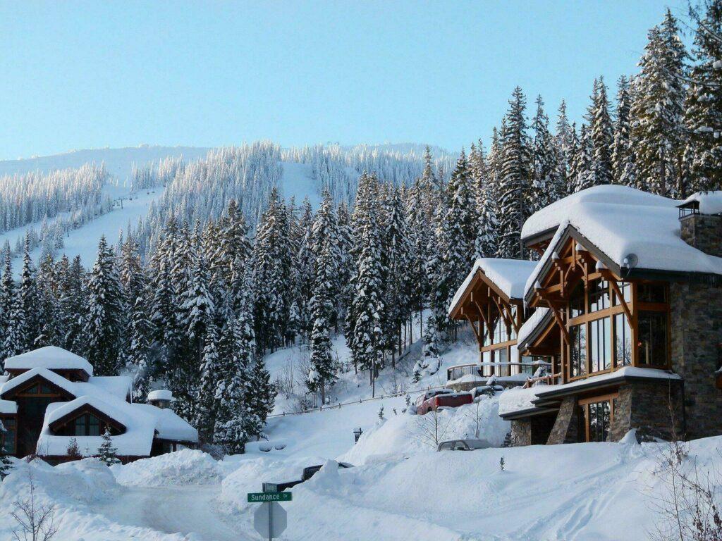 Station de ski en janvier