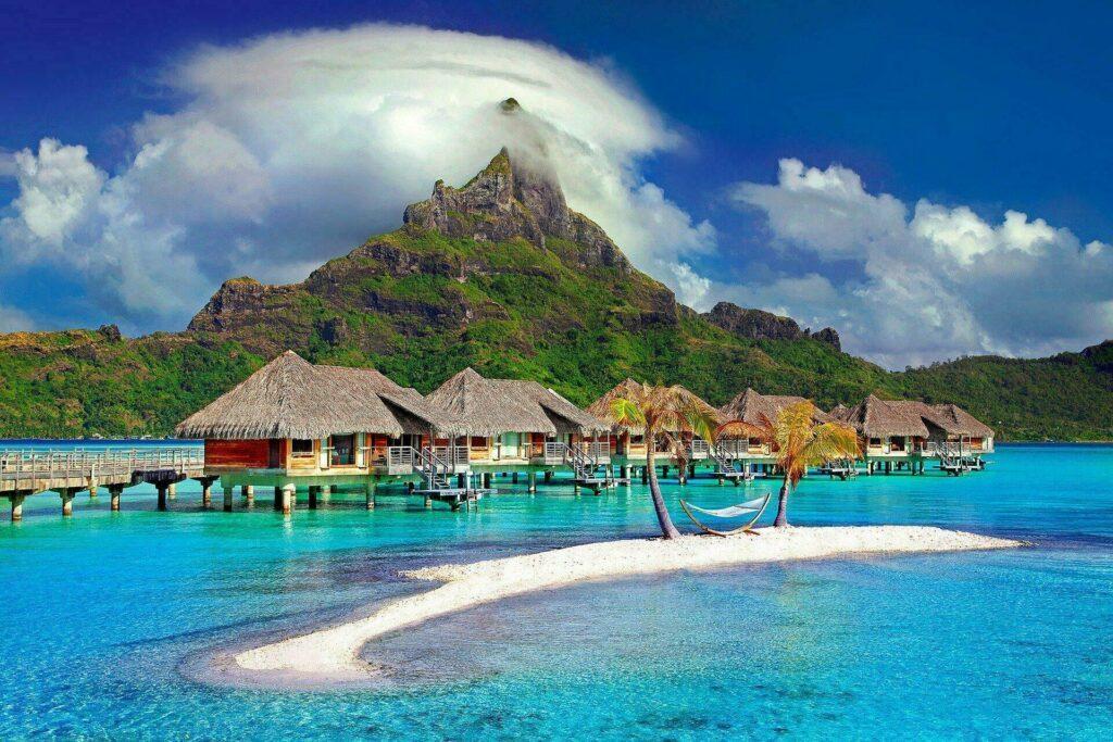 Une des îles des Caraïbes