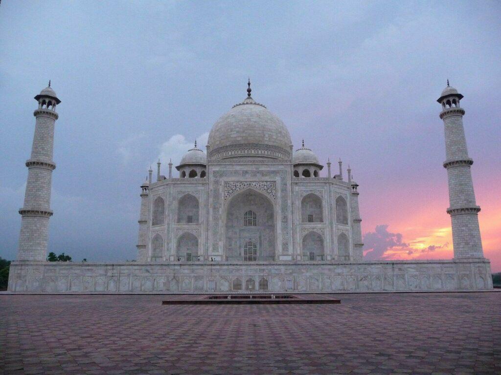 Sunset sur le Taj Mahal