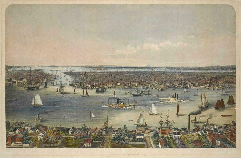 Le port de New York en 1848