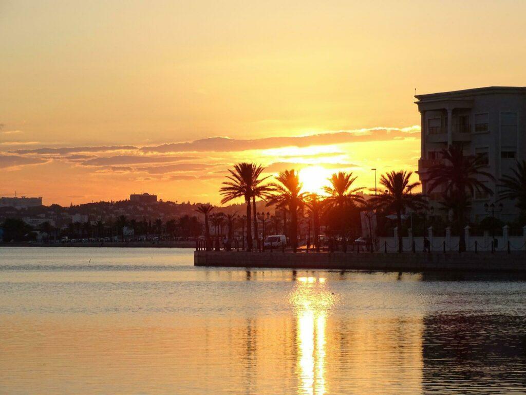coucher de soleil à Tunis