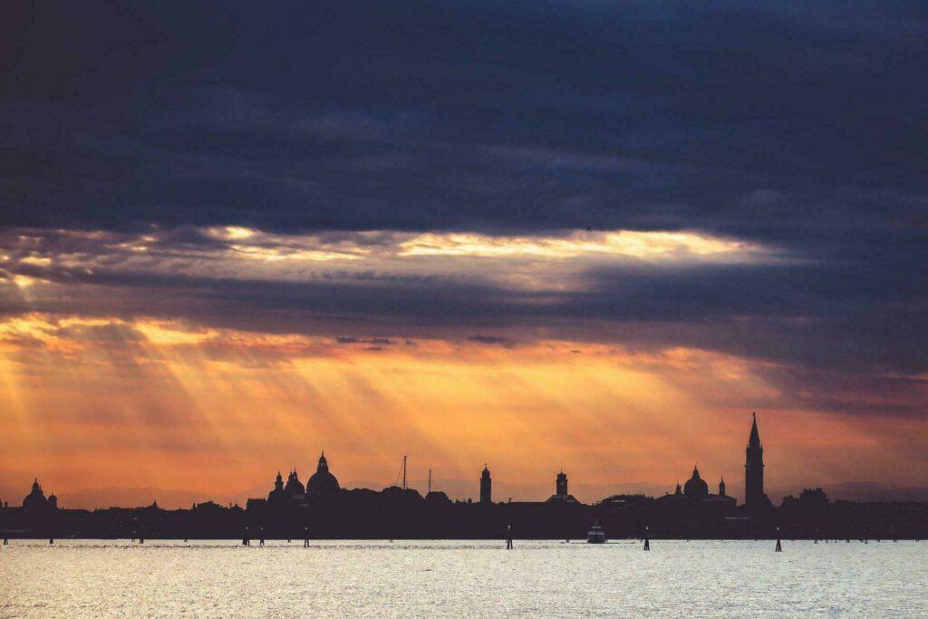 Venise au coucher de soleil
