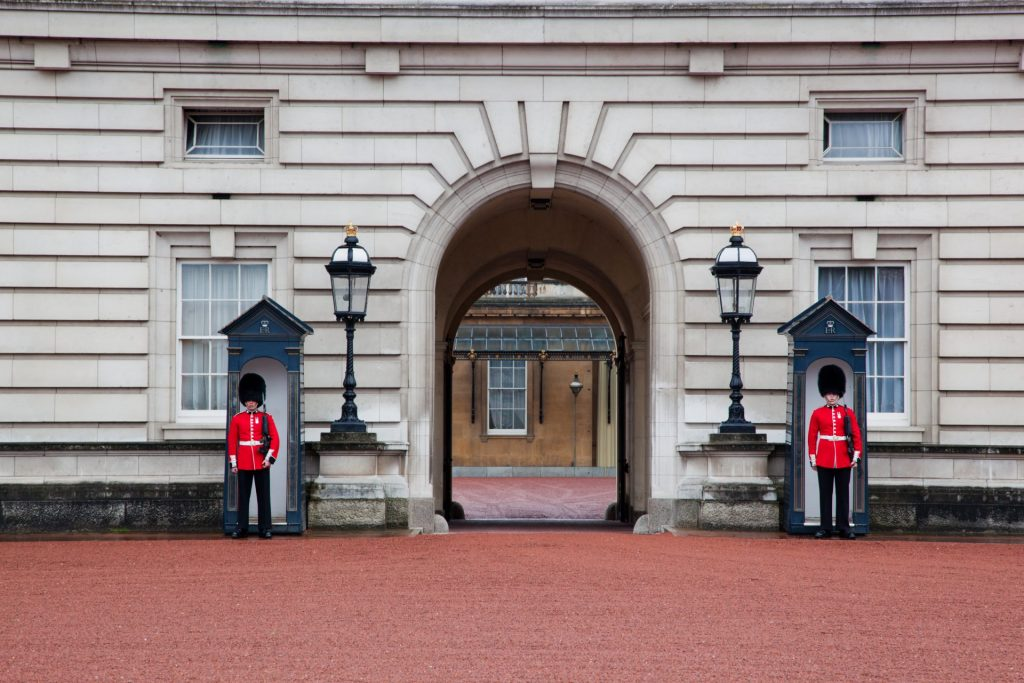 Buckingham gardes royaux