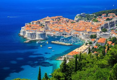 Dubrovnik Croatie port mer bleue