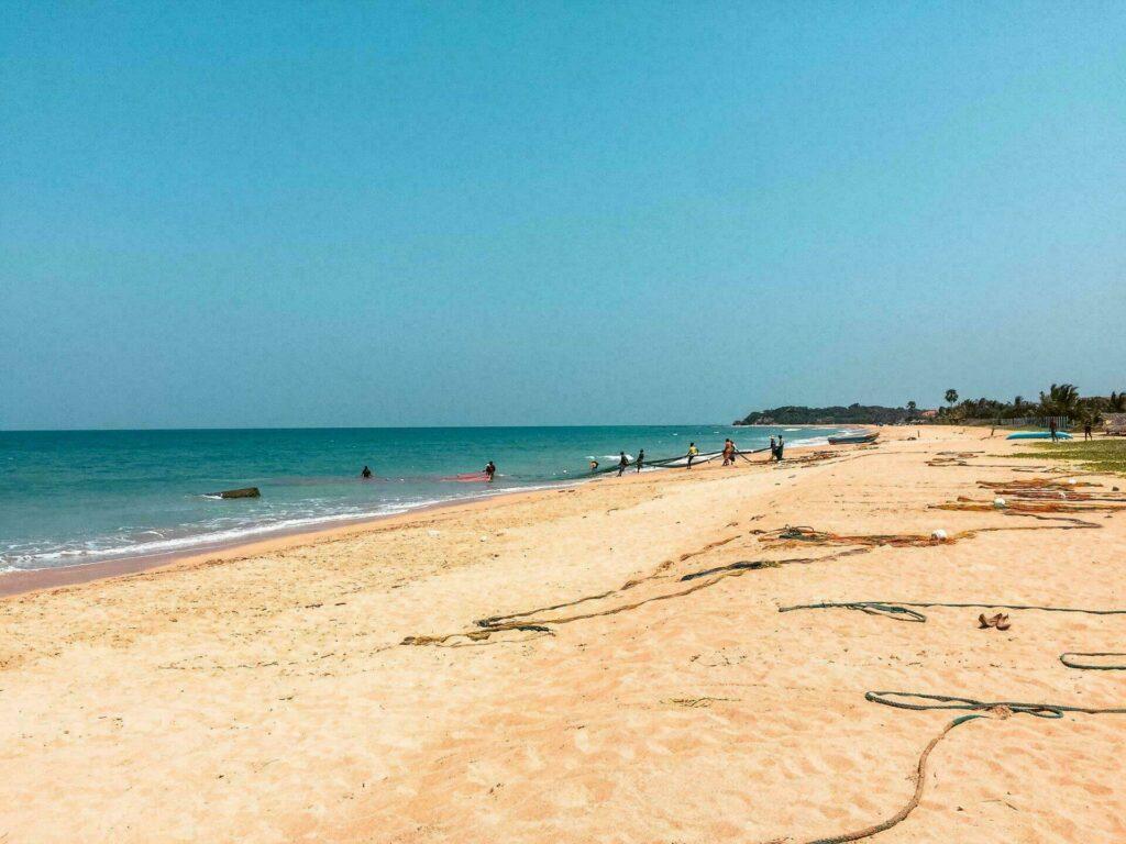 La plage de Nilaveli (Sri Lanka)