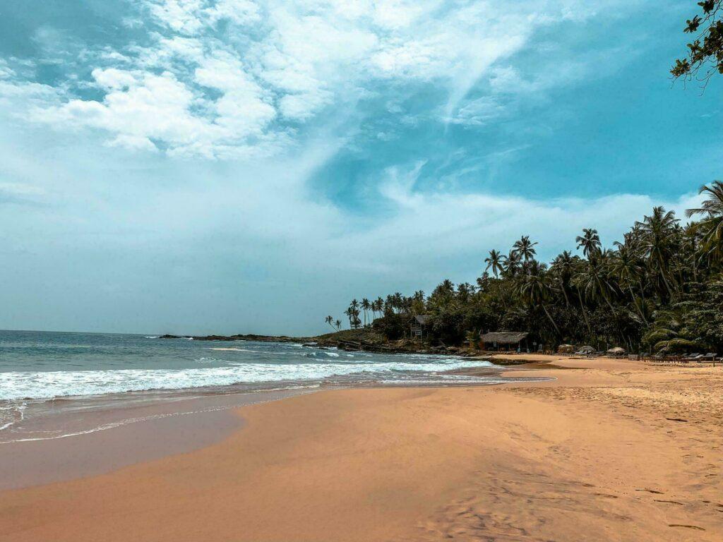 Une des plages du Sri Lanka