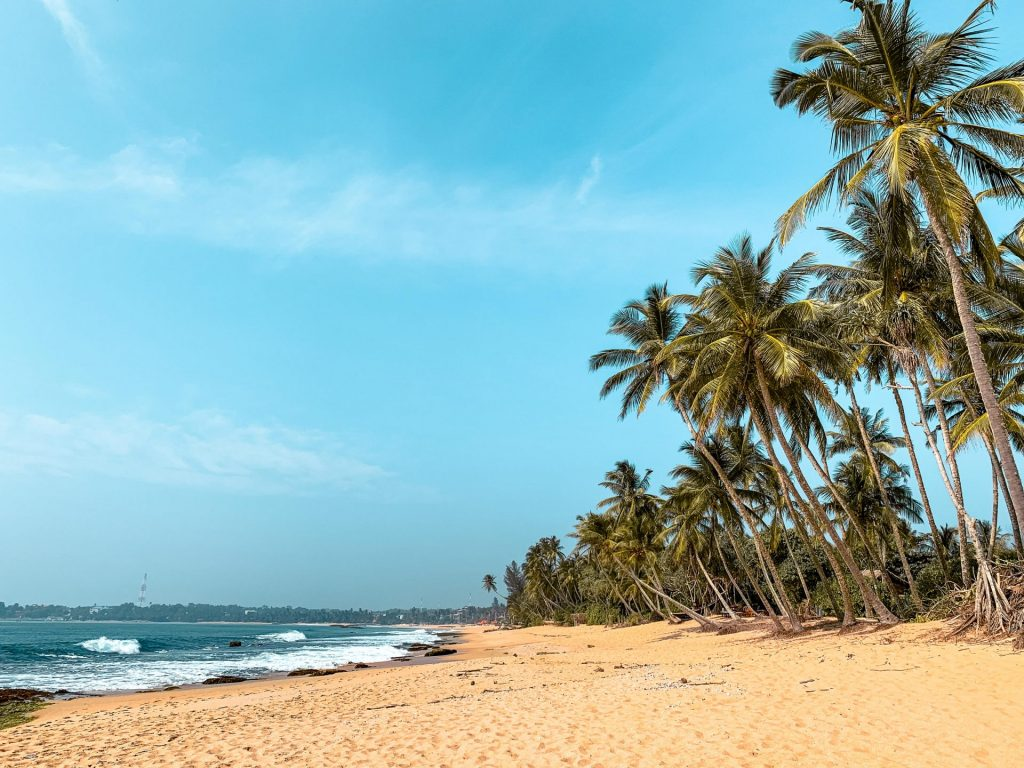 Magnifique plage au Sri Lanka