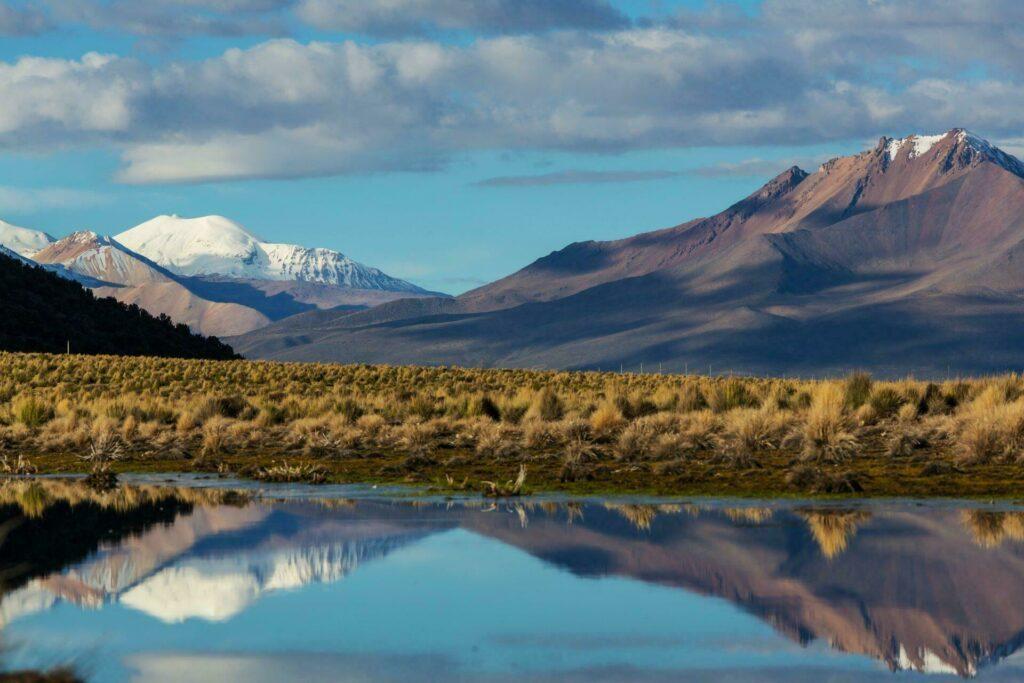 Les montagnes de la Bolivie
