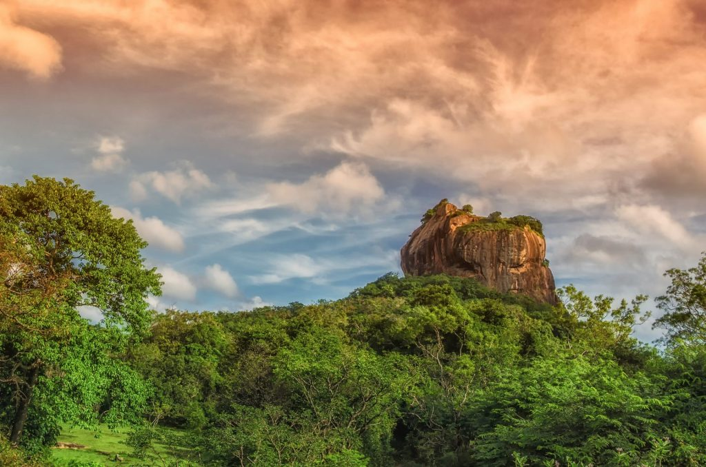 Le Rocher du lion à Sigiriya, Sri Lanka