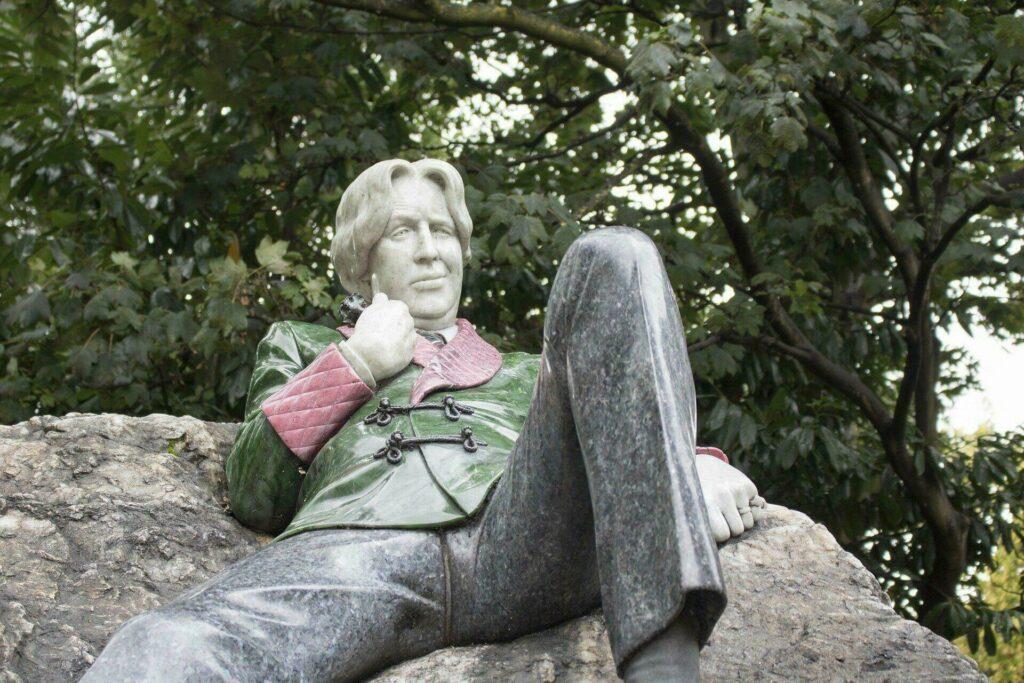 La statue d'Oscar Wilde à Dublin
