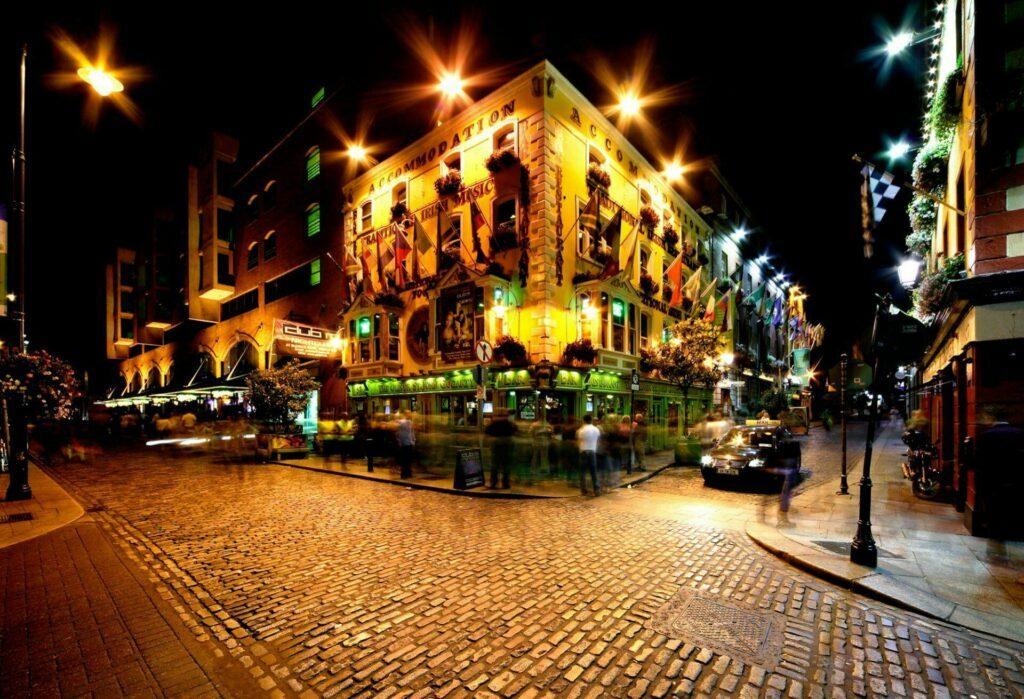 Quartier de Temple Bar à Dublin