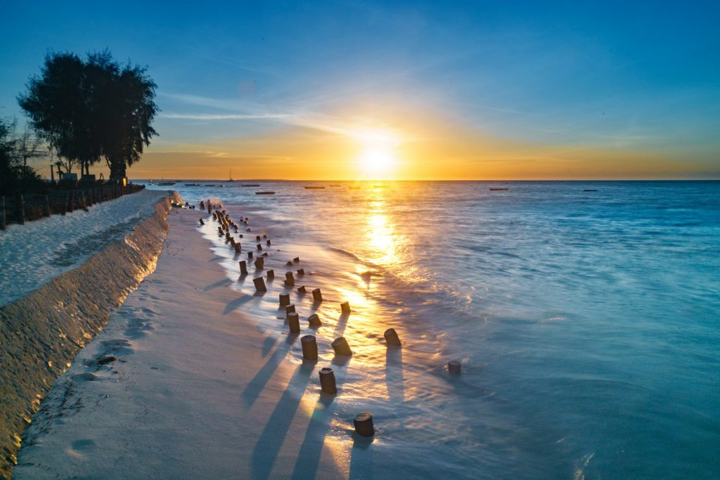 Coucher de soleil sur Zanzibar