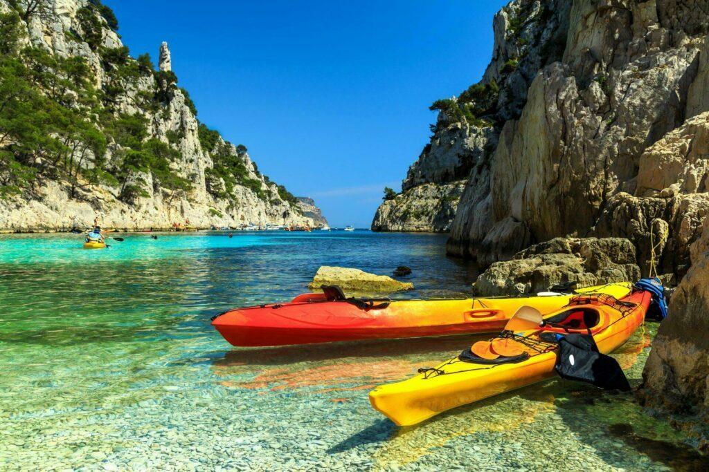 calanques kayak