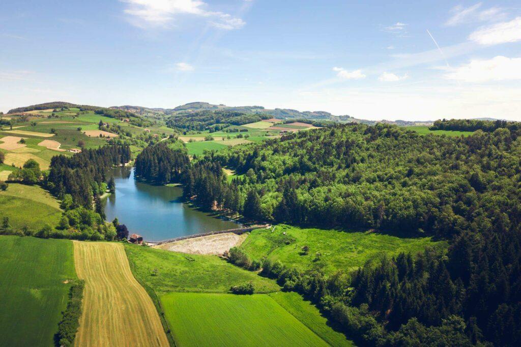 Monts du Lyonnais barrage de la Gimond
