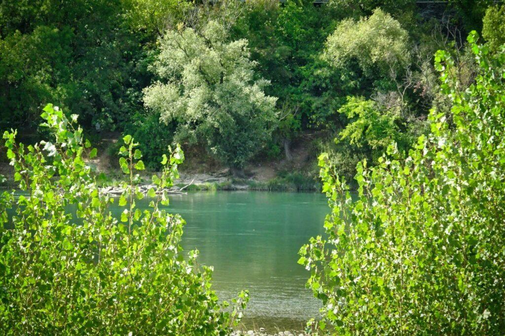 Aux abords de Vernaison, le long du Rhône