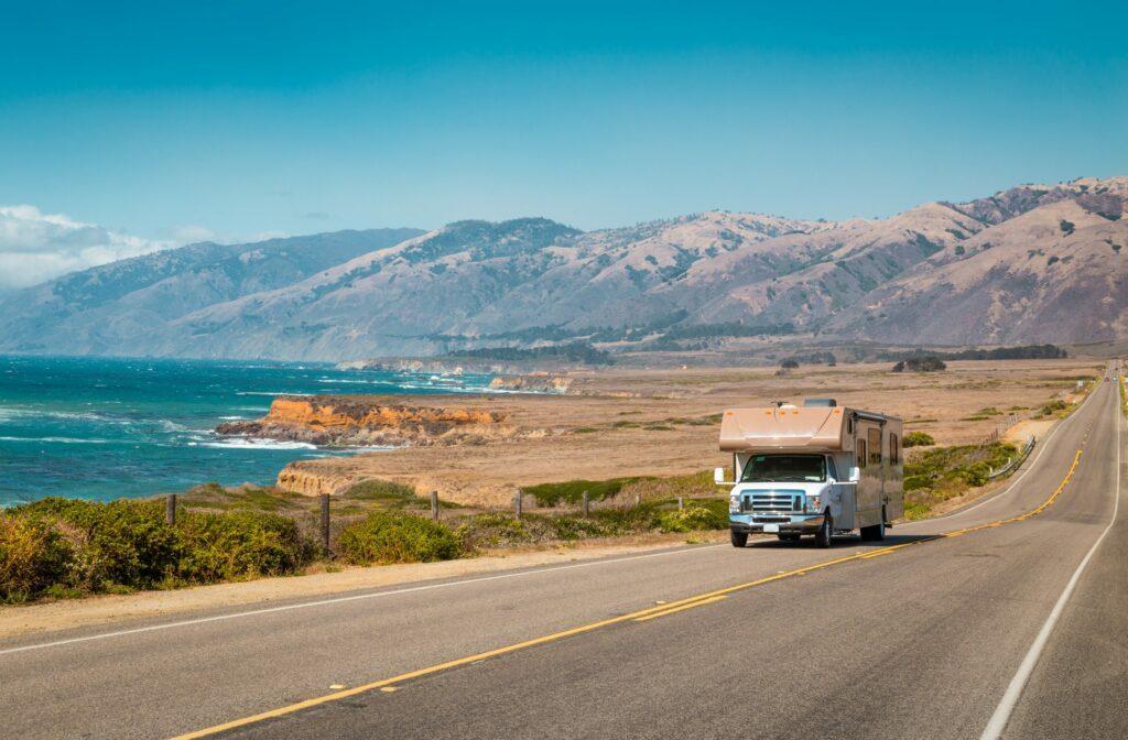 Camping car en Californie (Etats-Unis)