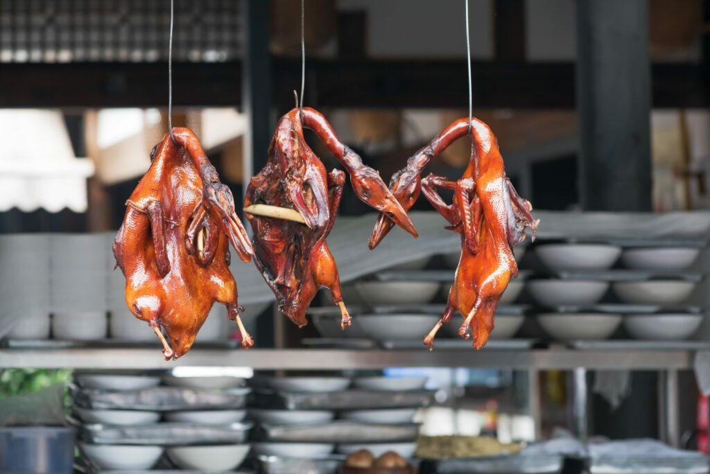 canards laqués en Chine