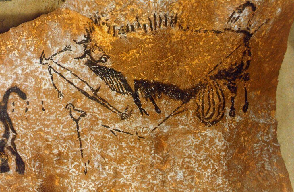 Peinture rupestre dans la Grotte de Lascaux