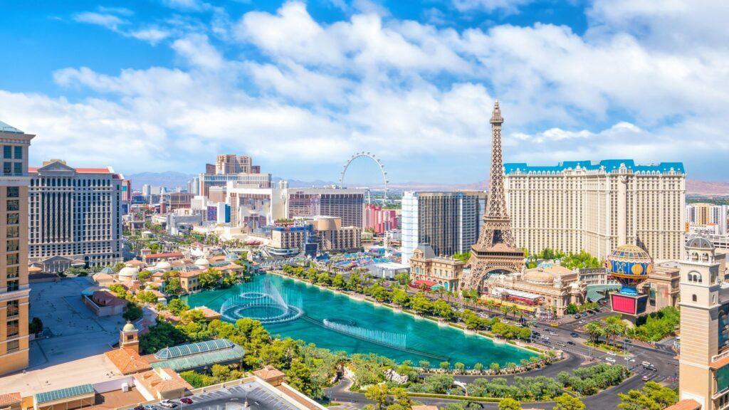 vue aérienne de Las Vegas