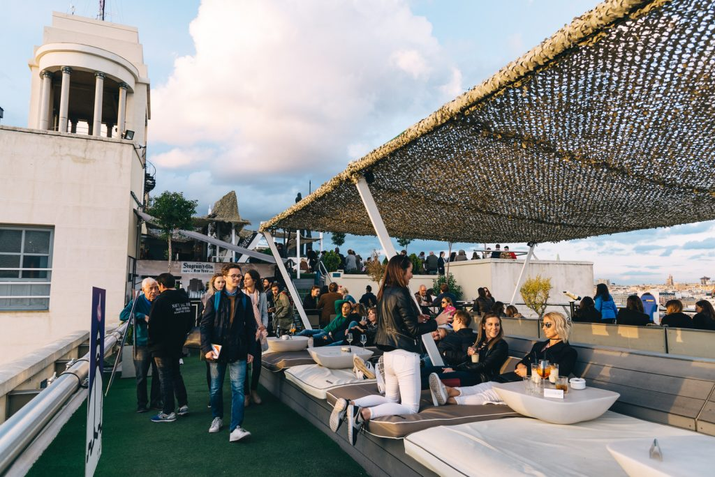 Lounge du rooftop de Circulo de Bellas Arte