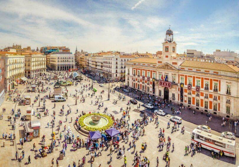 La Puerta del Sol vue d'en haut