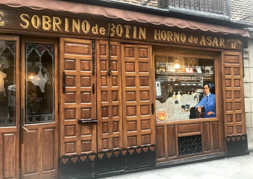 Madrid restaurant el Botin