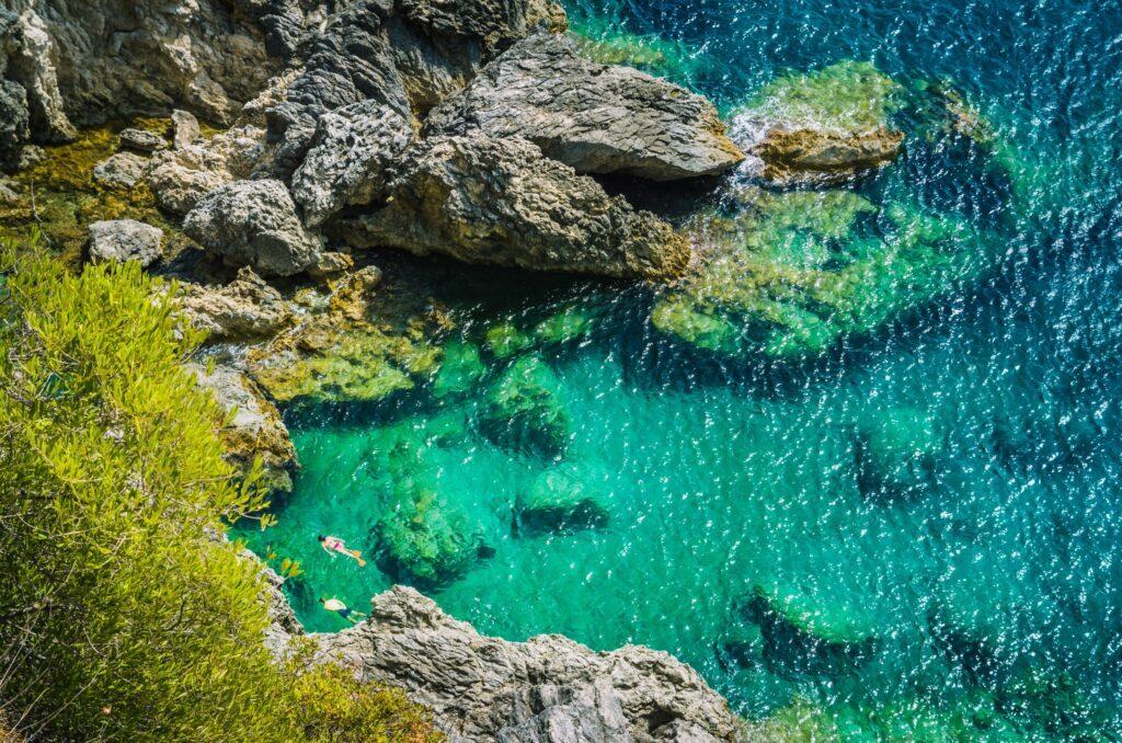 snorkeling à Corfou
