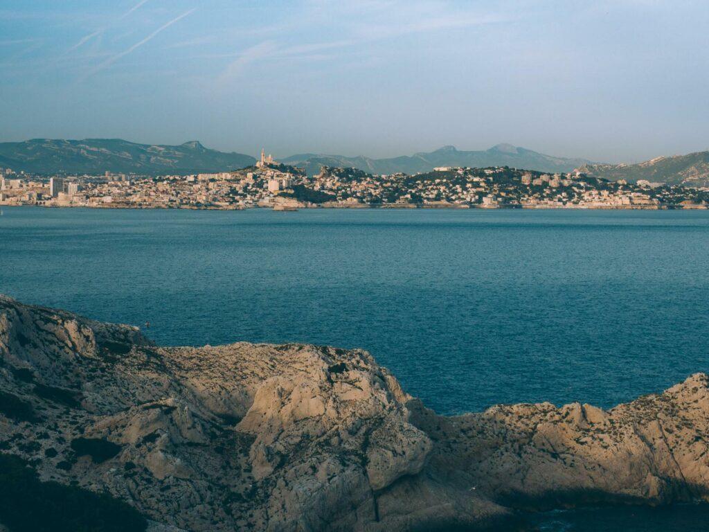 Vue de Marseille depuis l'île du Frioul