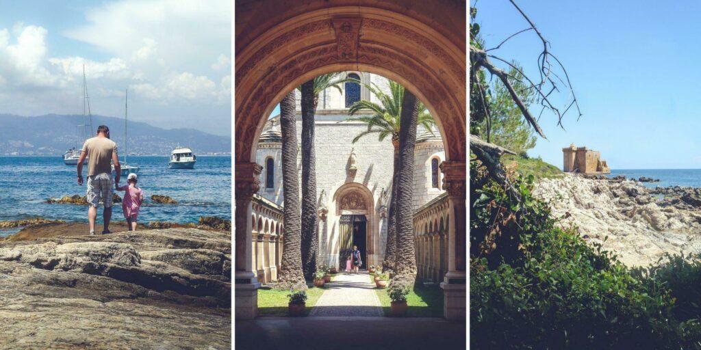 L'île, ses criques, son monastère, et sa forteresse