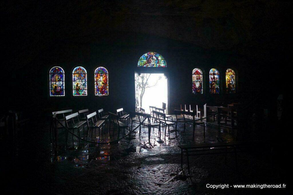 La grotte de Sainte baume, dans le Var