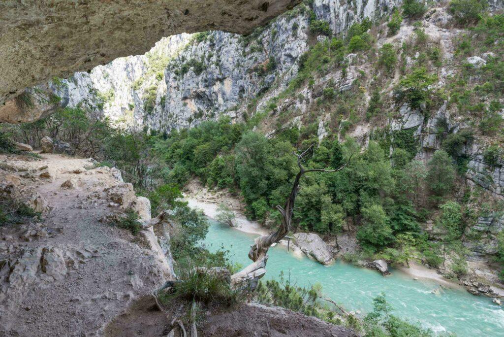 Sentier de l'Imbut, dans les gorges du Verdon