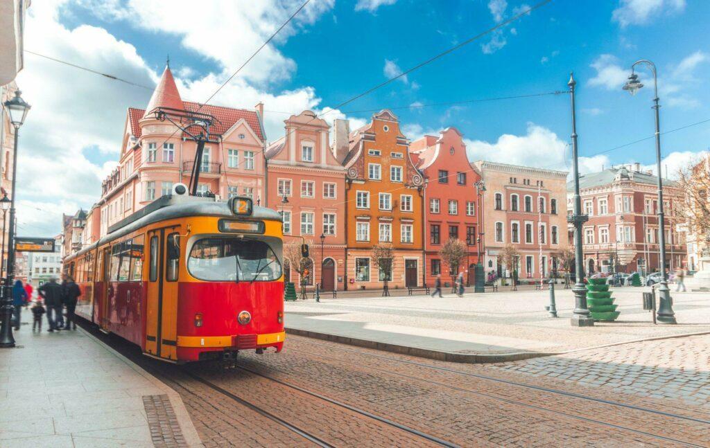 tramway à Grudziadz