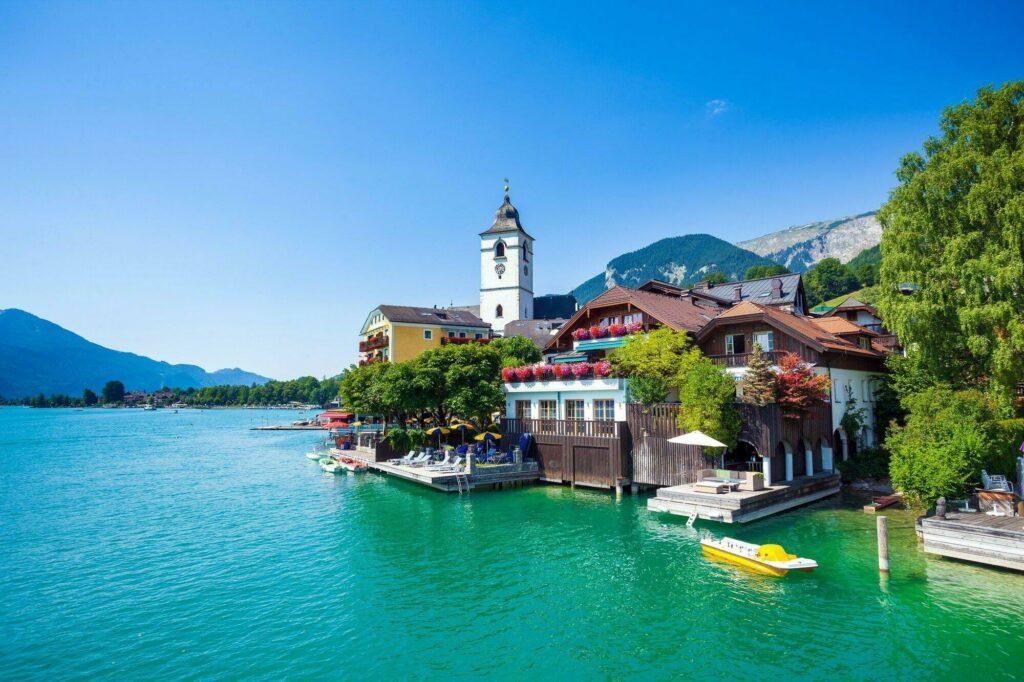 Lac Wolfgang paysages de l'Autriche