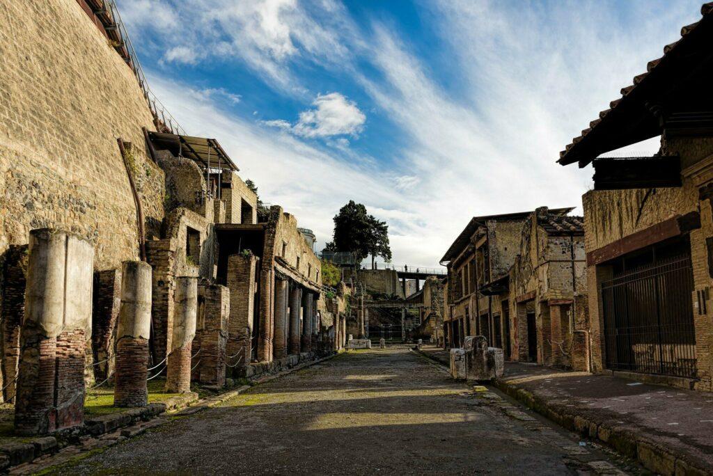 les ruines d'Herculanum