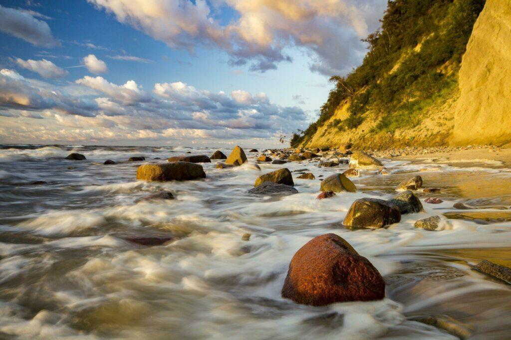les falaises de l'île de Wolin