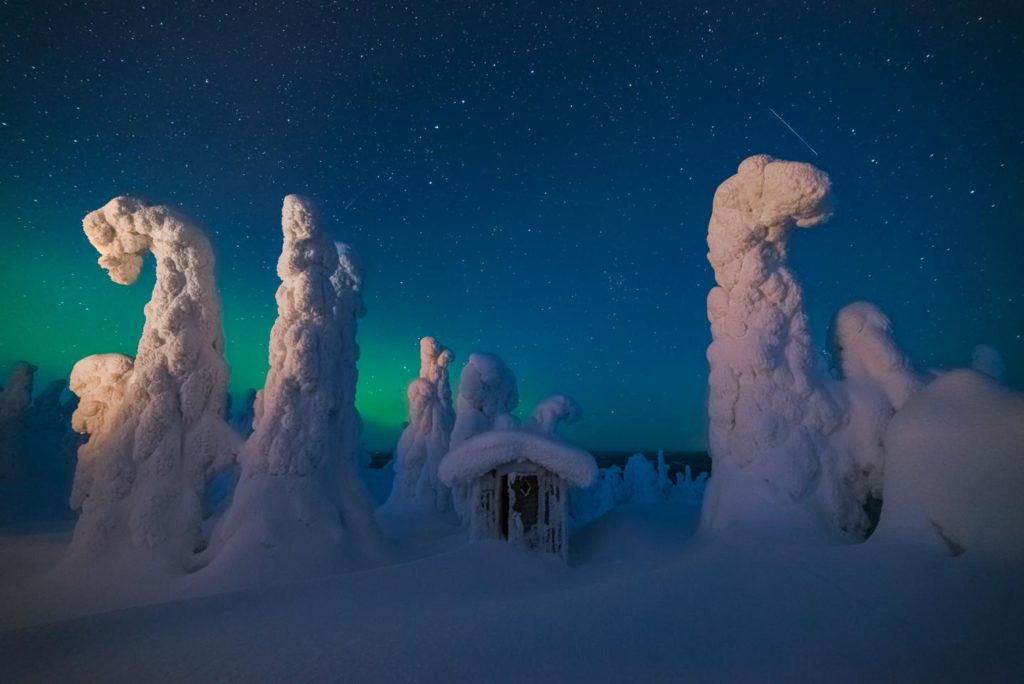 Laponie hiver finlande abris neige