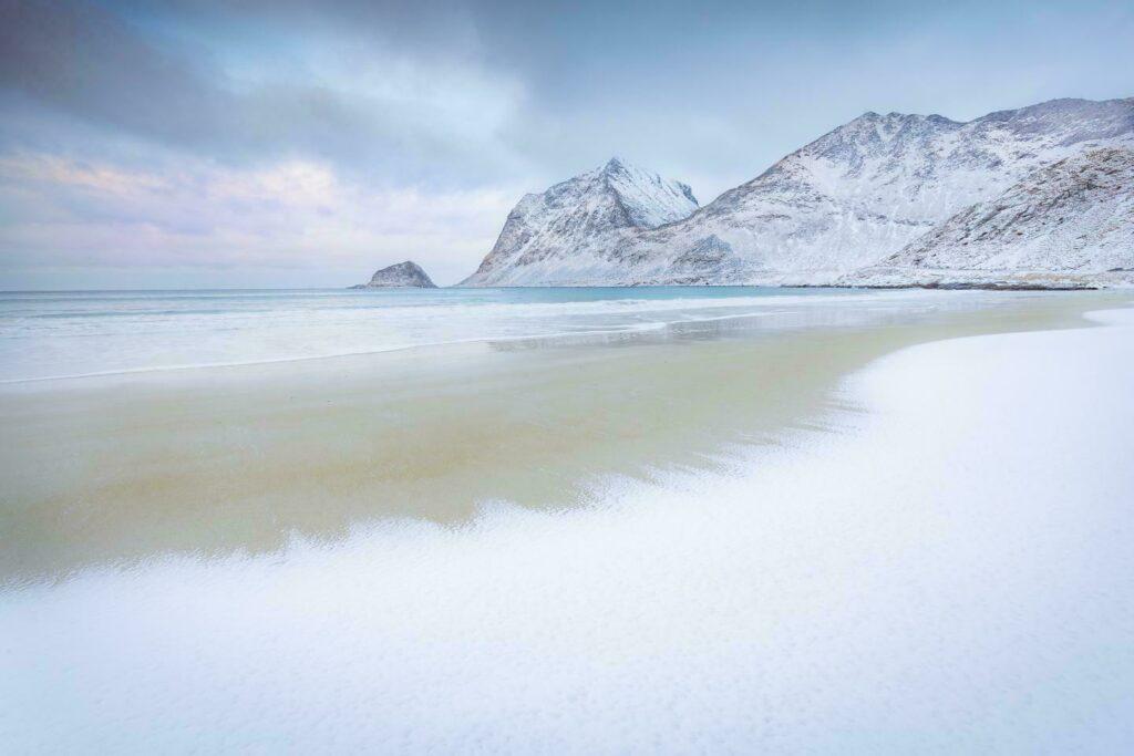 Laponie hiver norvege The Shore plage