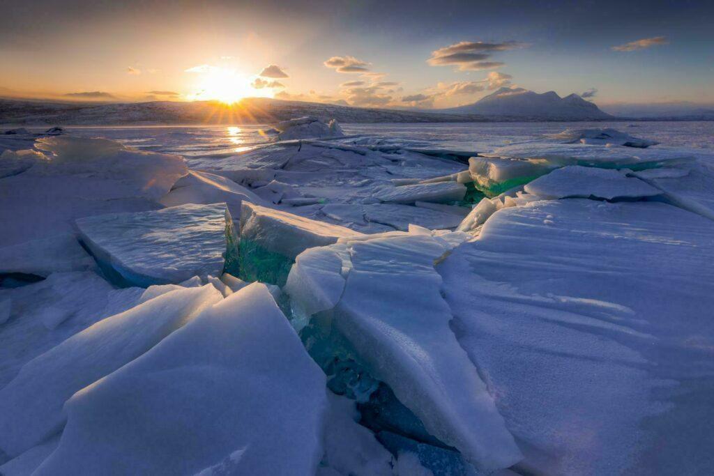 Laponie hiver suede Concassage lac glace