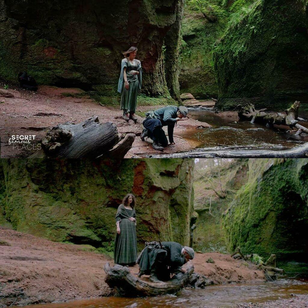 Devil's Pulpit en Ecosse pour la série Outlander