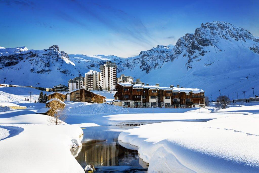 Tignes dans les Alpes
