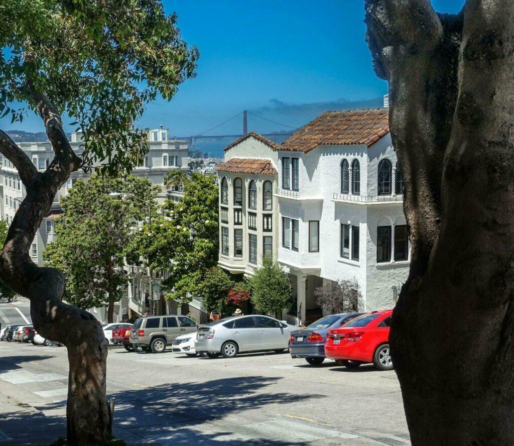 vue depuis Lombard Street