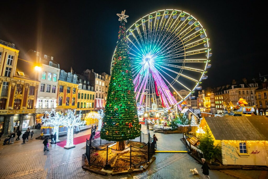 Grande roue Noël Lille