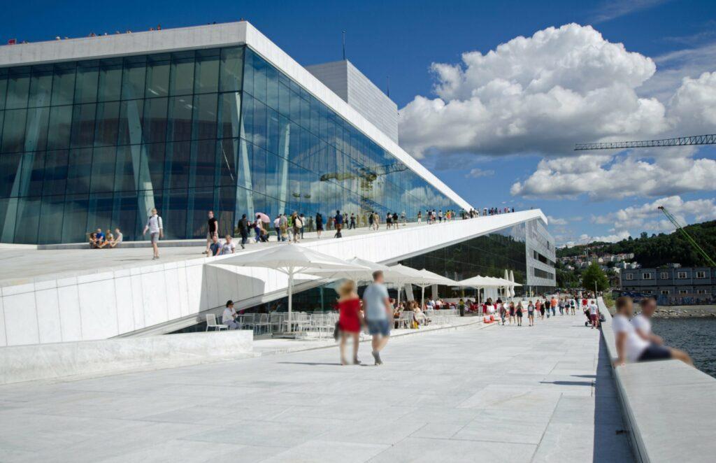toit de l'opéra d'Oslo