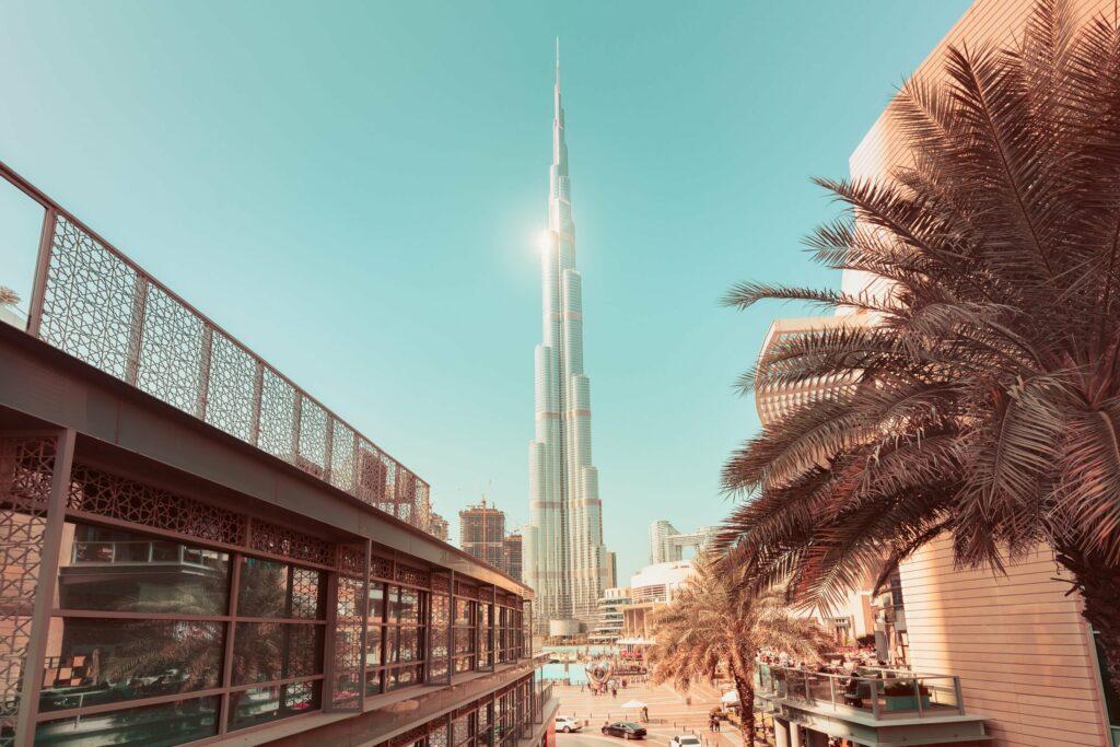 architecture de la tour de Dubaï