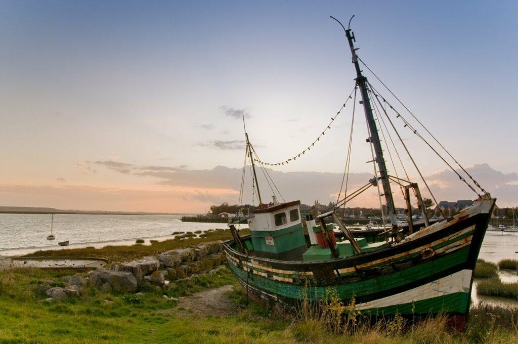 bateau échoué à Crotoy