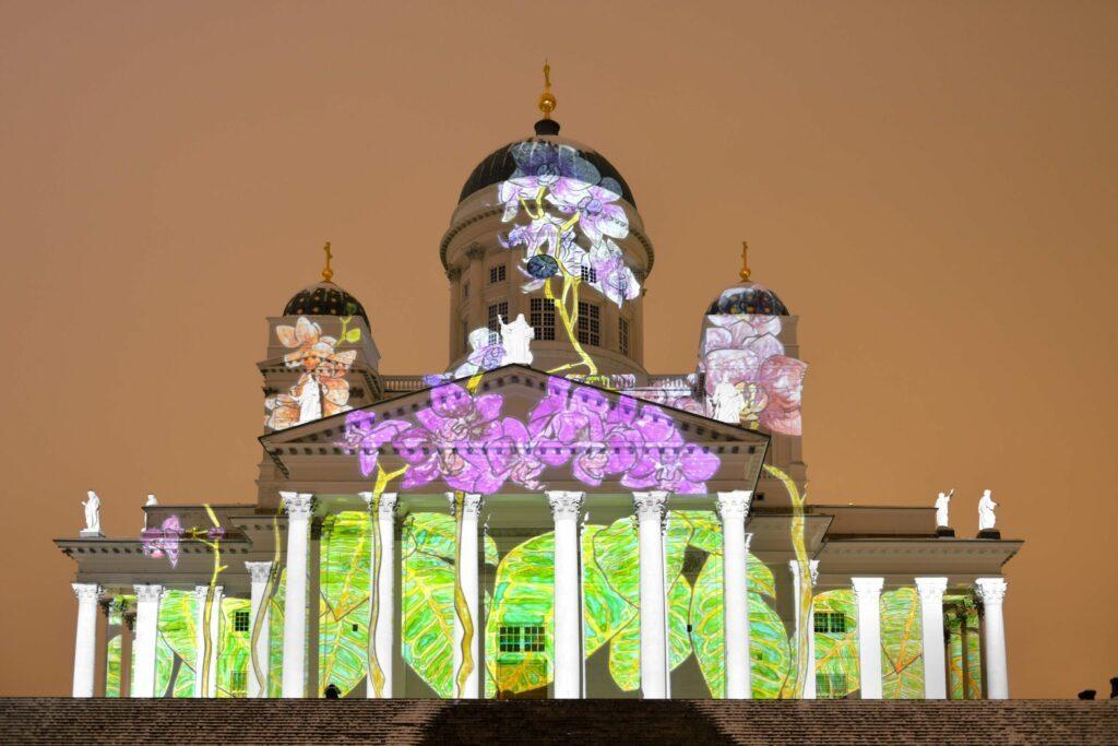 festival des lumières à Helsinki