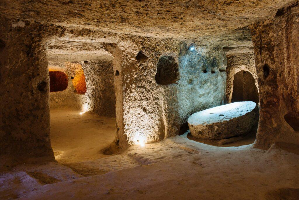la ville souterraine de Derinkuyu Cappadoce