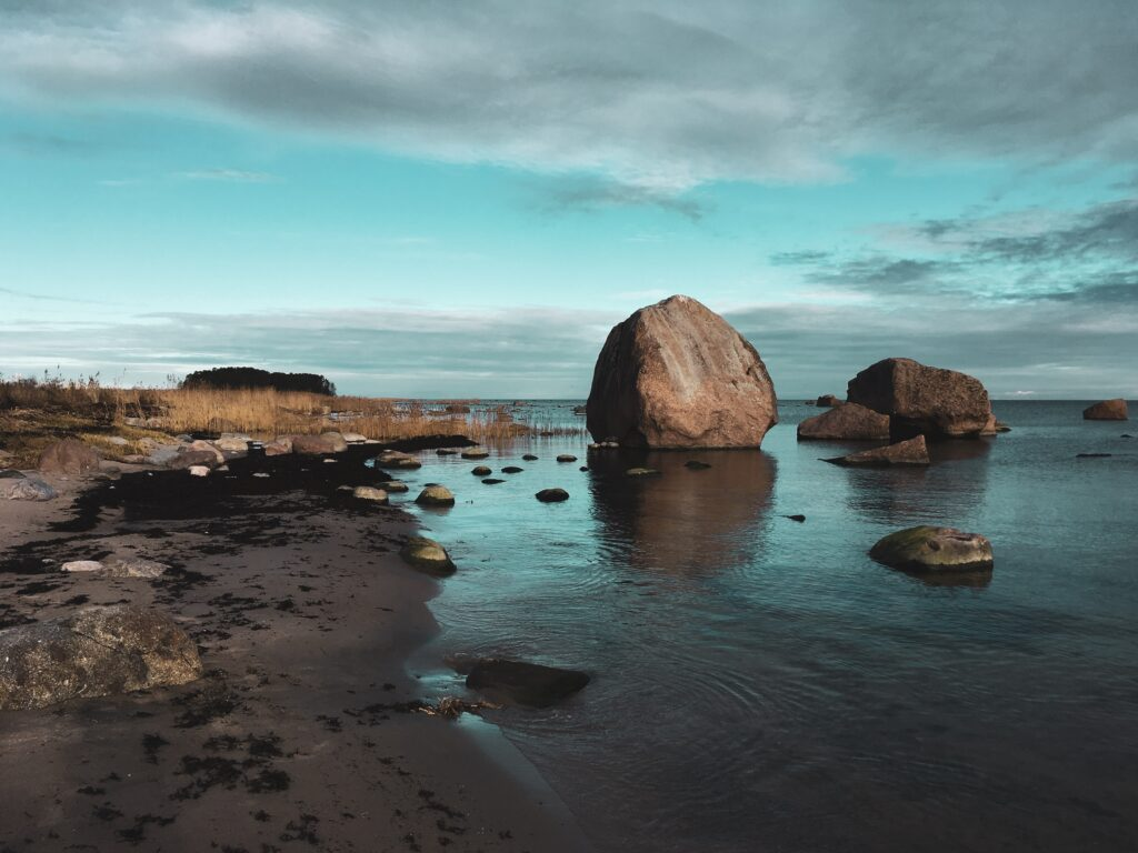 les rochers de Vana Juri Estonie