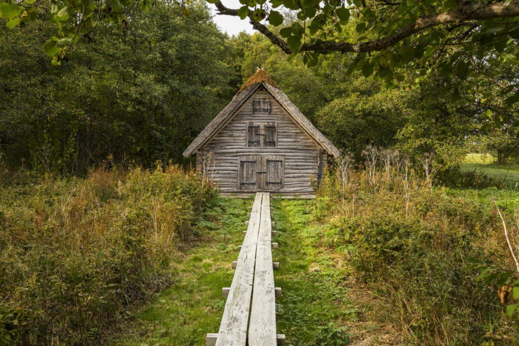 maison en bois à Matsalu